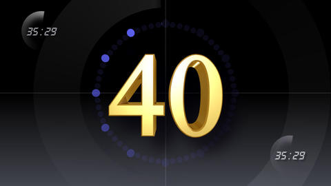 CountDown Number E b HD Stock Video Footage