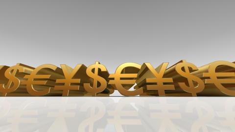 Money Symbol Bw Stock Video Footage