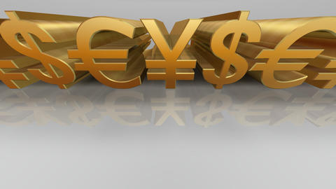 Money Symbol Cw Stock Video Footage