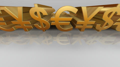 Money Symbol Cw Stock Video Footage
