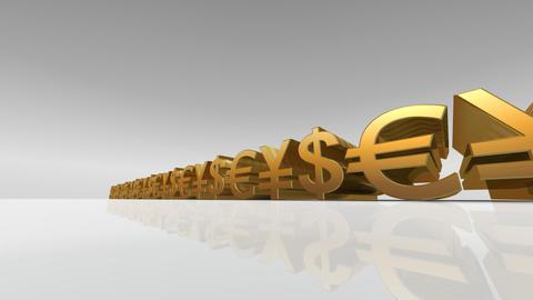 Money Symbol Dw Stock Video Footage