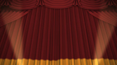 Stage Curtain A CU HD Stock Video Footage