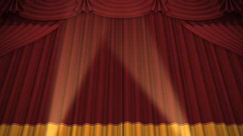 Stage Curtain A CU HD Animation