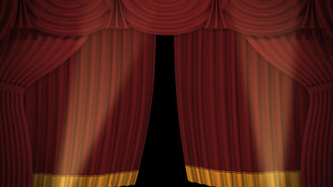 Stage Curtain A OM HD Stock Video Footage