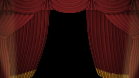 Stage Curtain A OM HD Animation