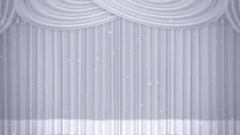 Stage Curtain B CF HD Stock Video Footage