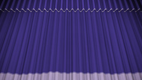 Stage Curtain C CU HD Stock Video Footage