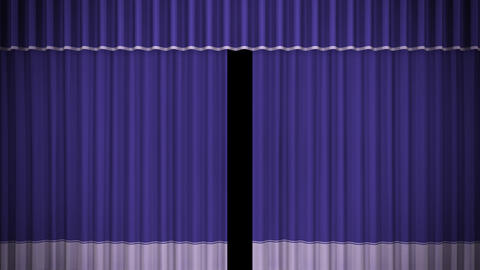 Stage Curtain C OM HD Stock Video Footage