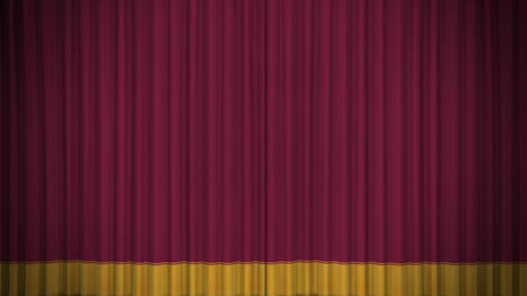 Stage Curtain D CF HD Animation