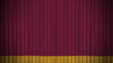 Stage Curtain D OF HD Stock Video Footage