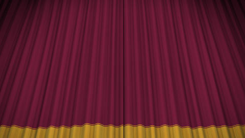 Stage Curtain D OU HD Stock Video Footage