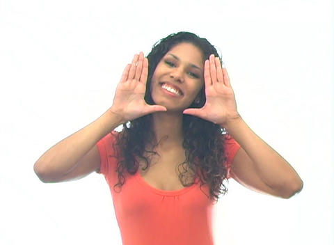 Beautiful Latina-4b Stock Video Footage