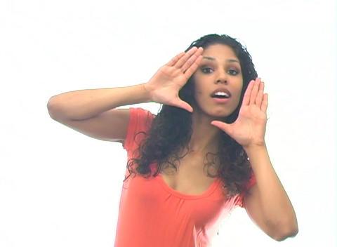 Beautiful Latina-4d Stock Video Footage
