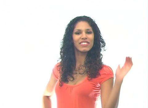 Beautiful Latina-4f Stock Video Footage