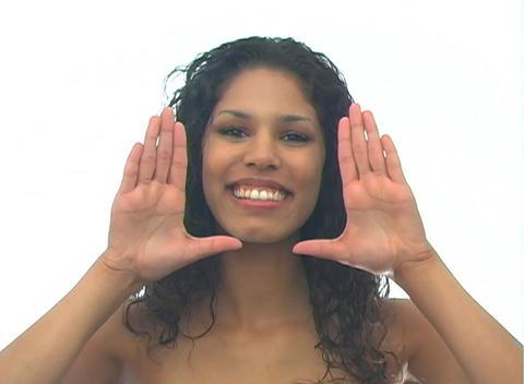 Beautiful Latina-5d Stock Video Footage