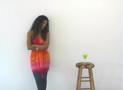 Beautiful Latina Flirting (1) Stock Video Footage