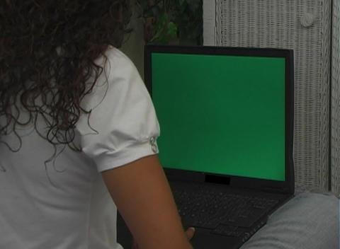 Beautiful Latina with a Laptop (3) Stock Video Footage