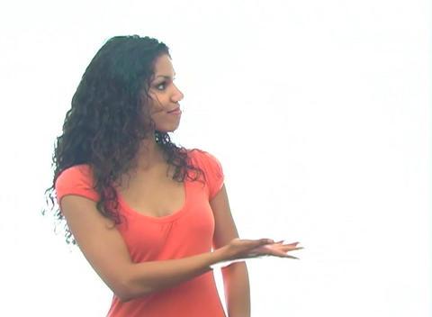 Beautiful Latina Hostess 1-a Stock Video Footage