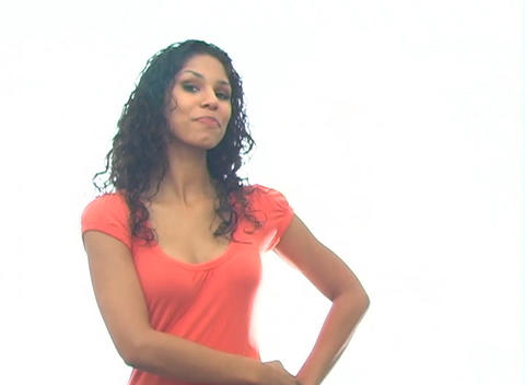 Beautiful Latina Hostess 1-a Stock Video Footage