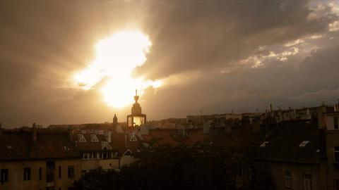 Timelapse panorama glory shine Stock Video Footage
