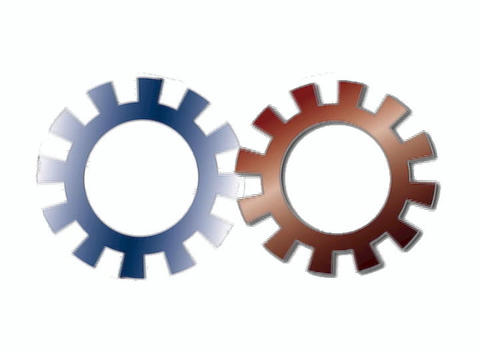 Pair of Rotating Gears Stock Video Footage