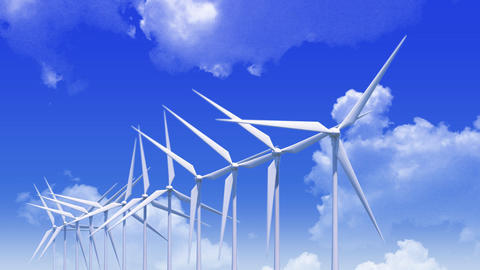 Wind Turbine Haa HD Animation