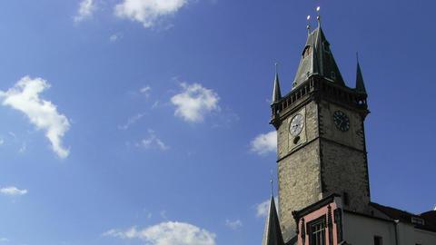 Timelapse oldtown tower Stock Video Footage