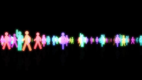 Silhouette People S A3 Mb Stock Video Footage