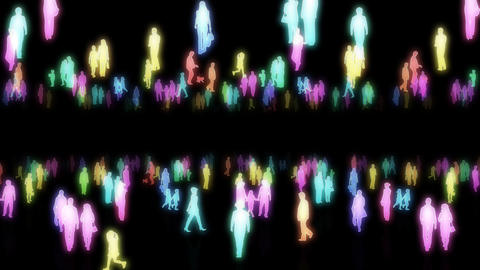Silhouette People S B2 Fb Stock Video Footage