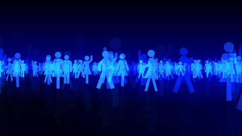 Silhouette People S B3 Mb Stock Video Footage