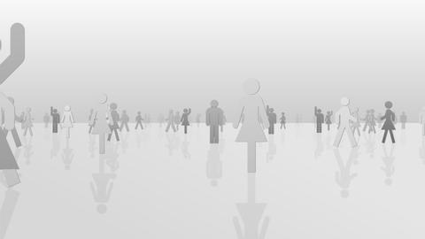 Silhouette People S C1 Mb Stock Video Footage