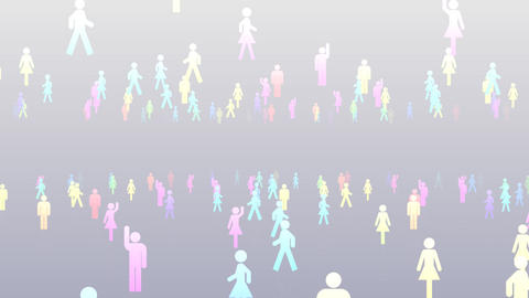 Silhouette People S C2 Mb HD Animation