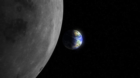 Earth to the Moon (25fps) Stock Video Footage