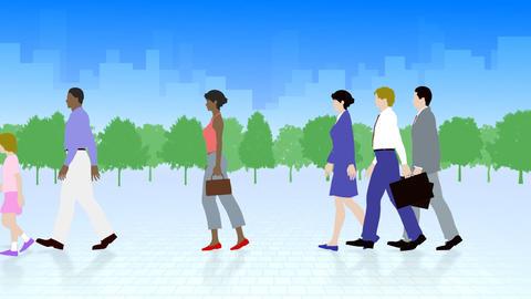 Walking People 3 AMa Stock Video Footage
