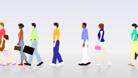 Walking People 3 AMc Animation