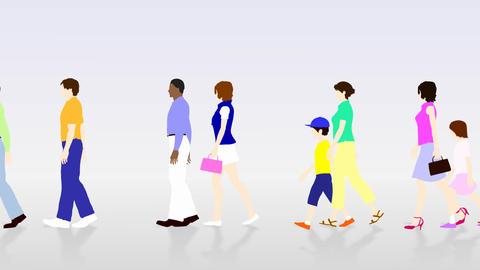 Walking People 3 AMc Stock Video Footage