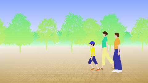Walking People 3 BCa Animation