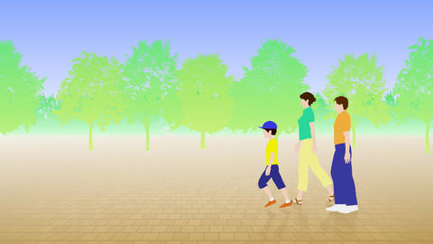 Walking People 3 BCa Stock Video Footage