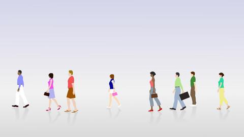 Walking People 3 BCc Stock Video Footage
