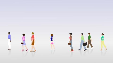Walking People 3 BCc Animation