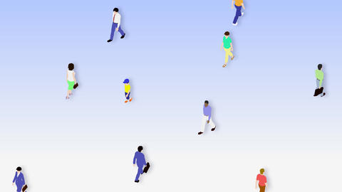Walking People 3 CMb Animation