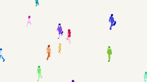Walking People 3 CMd Stock Video Footage