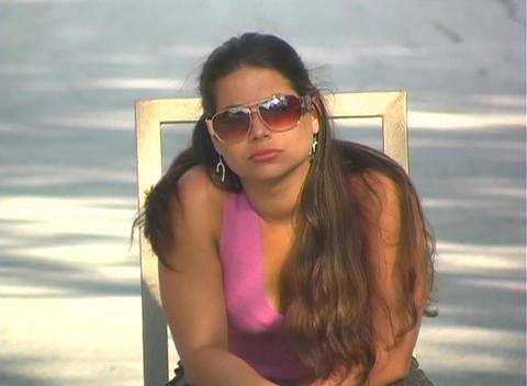 Beautiful Brunette Sitting in a Street-3 Stock Video Footage