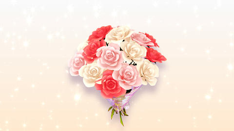 Rose Bouquet A2 Stock Video Footage