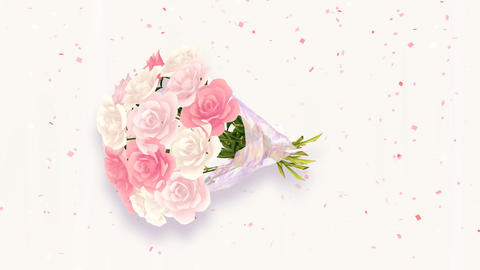 Rose Bouquet D2 Stock Video Footage