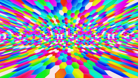 Hexagon HD 03 Sideways movement Animation