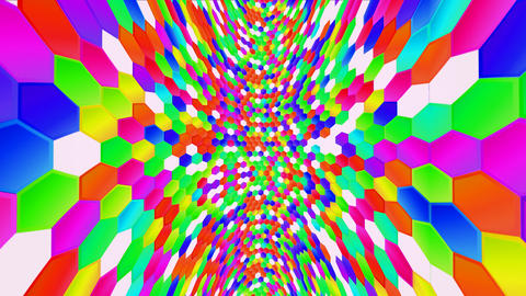 Hexagon HD 02 It moves to length 動画素材, ムービー映像素材