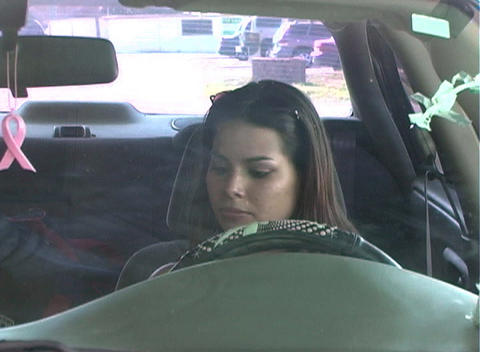 Beautiful Brunette Enters Her Car-3b Stock Video Footage