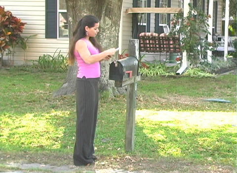 Hot Brunette Gets her Mail-2a Footage