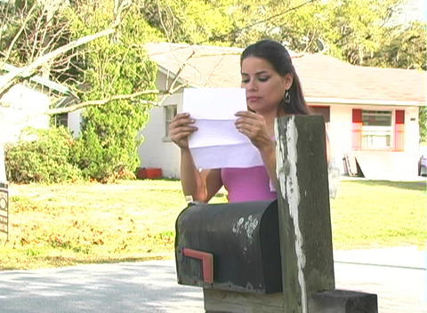 Hot Brunette Gets her Mail-3b Footage